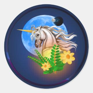 White Unicorn, Alien World Sticker