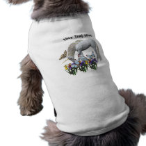 White Unicorn And Butterflies Dog Shirt