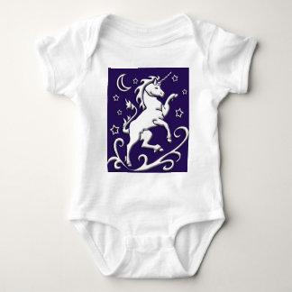 White Unicorn at Night Infant Creeper
