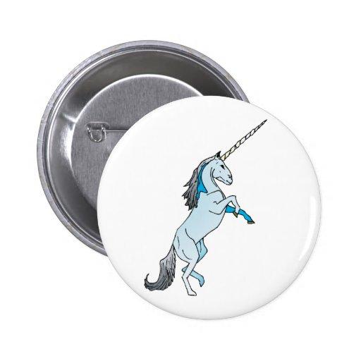 White Unicorn Buttons