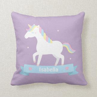White Unicorn Girls Room Decor Throw Pillow