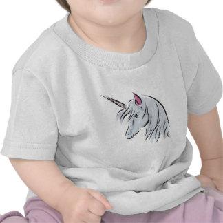 white unicorn head t-shirt