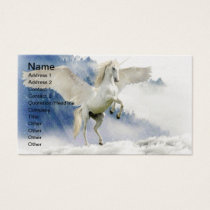 White Unicorn Horse with Wings Business Card