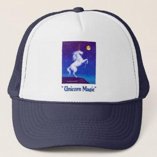 White Unicorn Moon Trucker Hat