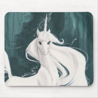 White Unicorn Mousepad