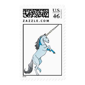 White Unicorn Stamp