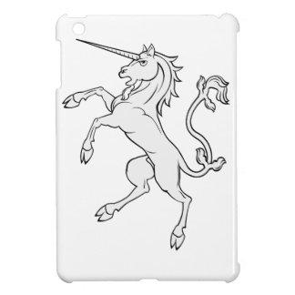 White Unicorn Rearing Standing iPad Mini Cover