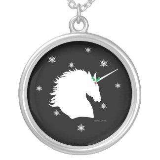 """""""White Unicorn Sigil"""" Black Holiday Necklace"""