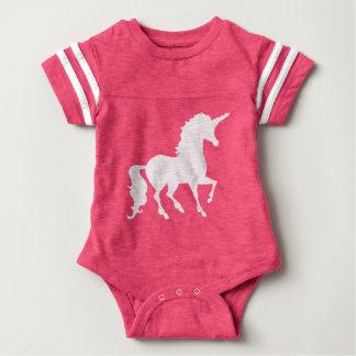 White Unicorn Silhouette Beautiful Whimsical Baby Baby Bodysuit