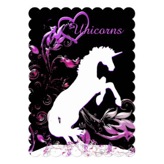 White Unicorn V (Coloful Splash) Card