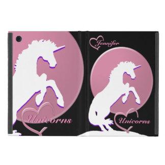 White Unicorn V (Pink) Cases For iPad Mini