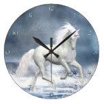 White Unicorn Wall Clock