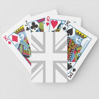 White Union Jack Playing Cards