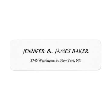 Professional Business White Unique Creative Clean Stylish Family Name Label