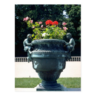 White Urn with fauns and begonias - Versailles, Fr Post Cards