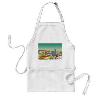 White Valdelarco in multicoloured, church and hous Apron