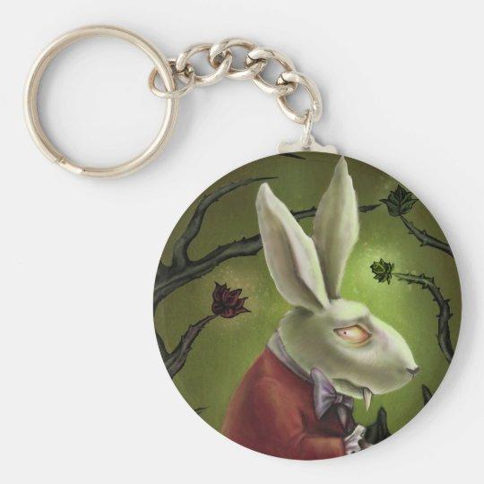 White Vampire Rabbit Keychain