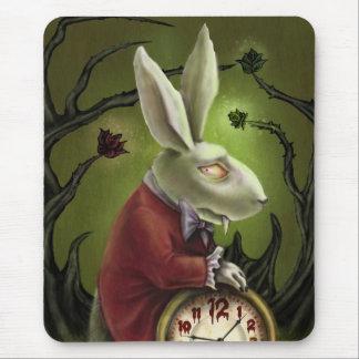 White Vampire Rabbit Mouse Pad