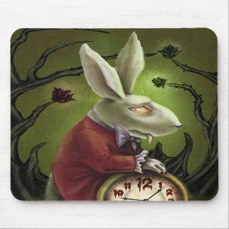 White Vampire Rabbit Mousepads