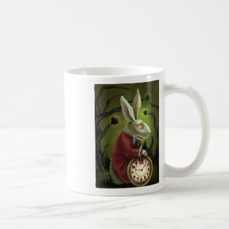 White Vampire Rabbit Coffee Mugs