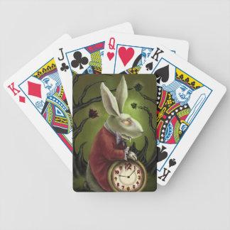 White Vampire Rabbit Poker Cards