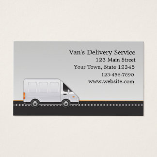 White Van, Delivery Service Business Card