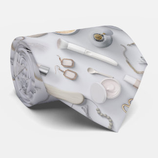 White Vanity Table Neck Tie