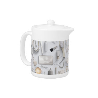 White Vanity Table Teapot