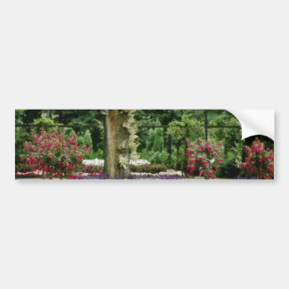 White Vaxjo city park, Smaland flowers Car Bumper Sticker