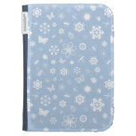 White Vector Bugs & Flowers (Sky Blue Background) Kindle Cover