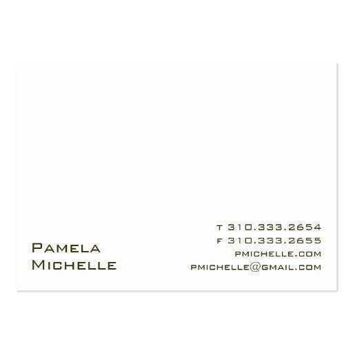 White VI Business Card Templates