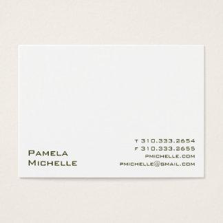 White VI Business Card