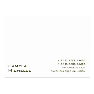 White VI Large Business Card