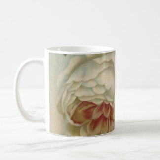 White Victorian Rose Mug English Roses/Floral