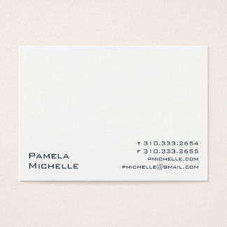 White VIII Business Card