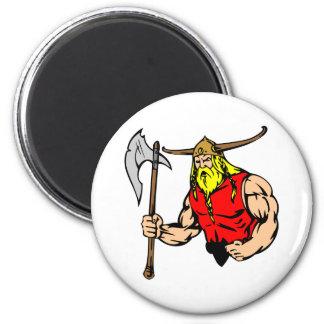 White Viking 2 Inch Round Magnet