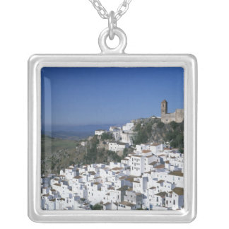 White Village of Casares, Andalusia, Spain 2 Silver Plated Necklace