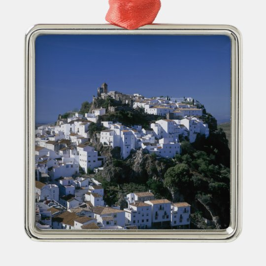 White Village of Casares, Andalusia, Spain Metal Ornament