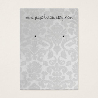 White Vintage Background Earring Cards