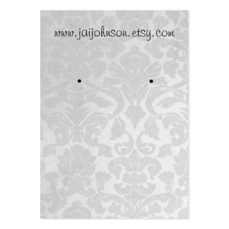 White Vintage Background Earring Cards Business Cards