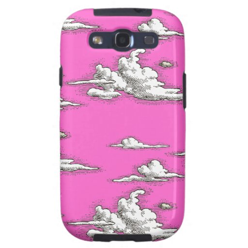 White Vintage Clouds Pattern Galaxy SIII Cases