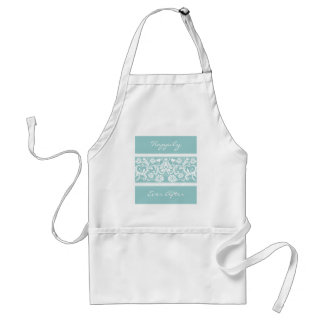 White Vintage Floral Wedding Favors Adult Apron