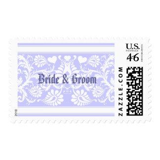 White Vintage Floral Wedding Favors Stamps