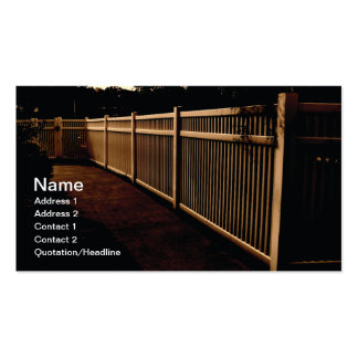 white vinyl outdoor fence Double-Sided standard business cards (Pack of 100)