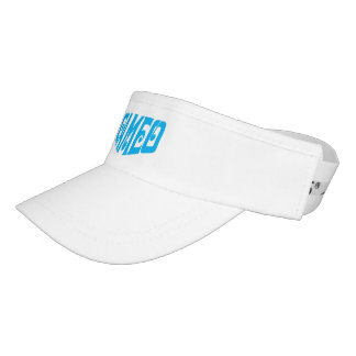 White visor with blue Cameo logo