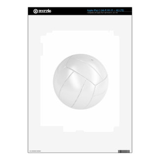 White volleyball ball decal for iPad 3