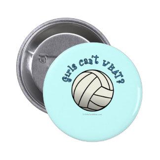 White Volleyball Team Button