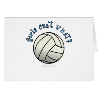 White Volleyball Team Card