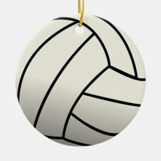 White Volleyball Team Ceramic Ornament