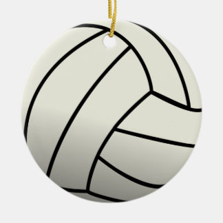 White Volleyball Team Christmas Ornament